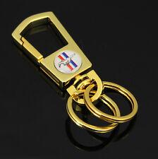 Auto Emblem Gold Vergoldet schlüsselanhänger Keychain für Geschenkbox Mustang