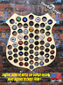 Police Badge Custom Beer Pop Cap Holder Collection Display Art Gift Man Cave