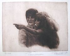 "P. BERRESHEIM GERMAN ETCHING ""GIRLFRIENDS"" LTD ED 1979"