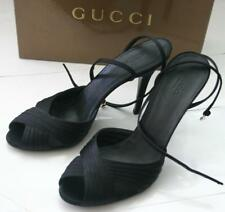 NEW Authentic GUCCI KELLY Black Ladys SHOES Sandal 10.5/40.5