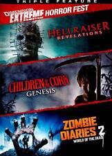 Children Corn Genesis/Zombie Diaries 2 (DVD, 2011) only 2 dvds