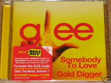 GLEE CAST Somebody To Love + Gold Digger 2 Track CD! RARE! OOP! Queen KANYE WEST