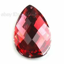 40pcs 24597 Rhinestone Red Teardrop Sew-on Charms Flatback Embellishment Buttons