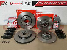 FOR RENAULT CLIO SPORT 172 182 BREMBO BRAKE DISCS ABS BEARINGS PADS 1L FLUID