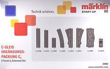 Marklin H.O. #24905, C Track Extension Set - C5, New in Box