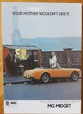 MG Midget 1973 near Battersea Power Station VM1465PC Vintage Ad Gallery Postcard