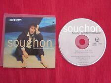 CD SINGLE ALAIN SOUCHON FOULE SENTIMENTALE LES FILLES ELECTRIQUES 1993