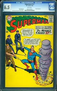 Superman 177 CGC 6.5 White Silver Age DC Comic Early Superman Appearance L@@K
