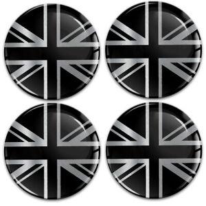 4 x 56mm UK Union Jack Flagge Aufkleber für Nabendeckel Felgendeckel Nabenkappen