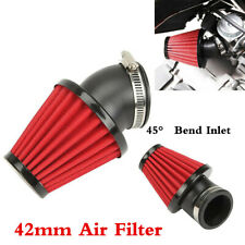 45° Bend Inlet Accordion Mesh Cone Style 360 Degree Cold Air Intake Filter 42mm