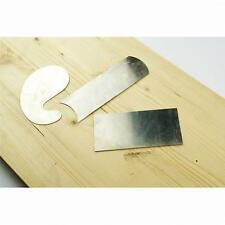 3 Stainless Steel Cabinet Card Scraper Set Gooseneck, Rectangle & Concave-Convex