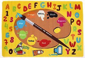 Kids Rugs Alphabet Learning Carpet Area Rug Daycare Rug, Little Artist  All Size