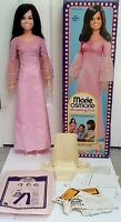 MARIE OSMOND MODELING DOLL 30 INCH TALL MATTEL 1976 WITH STAND, BOX & PATTERNS