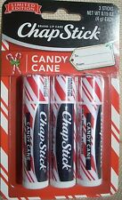 CANDY CANE CHAPSTICK / Lip Balm - Limited Edition - BRAND NEW - Set of 3!