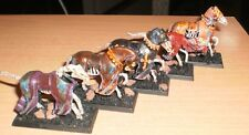 WARHAMMER FANTASY 5 METAL & PLASTIC MODIFIED UNDEAD MOUNTS STEEDS TOMB KINGS