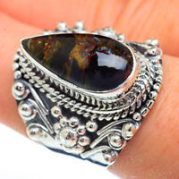 Large Pietersite 925 Sterling Silver Ring Size 8.25 Ana Co Jewelry R45428F