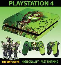 PS4 Piel Poison Ivy Gotham Chica Batman Villano Pegatina + Almohadilla calcomanías de vinilo relajado