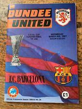 More details for dundee united v barcelona 1986/1987 uefa cup