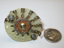 """CRL EPOXY  ROTARY SWITCH 1 POLE - 6  POSITIONS  NON SHORTING 5/16"""" SHAFT  NOS"""