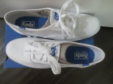 NEW KEDS FOR J.CREW MESH WHITE SNEAKER SHOES SIZE 8