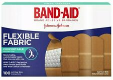 BAND-AID Flexible Fabric Adhesive Bandages 3/4 Inch X 3 Inches 100 ea