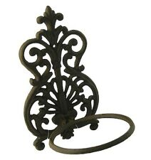 Spanish Wall Pot Plant Holder Gardman Cast Iron Metal Garden Art
