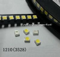 100pc 1210 3528 SMD Super bright WHITE LED Light Emitting Diode 6000~6500K white