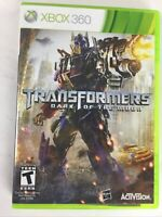 Transformers Dark of the Moon Microsoft Xbox 360 2011 Complete