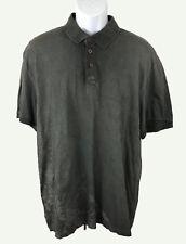 Buffalo David Botton Men's Short Sleeve Cotton Polo Shirt Black XXL NWT Reg $55