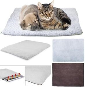 Self Heating Pet Pad Bed Dog Cat Puppy Fleece Washable Mat Soft Thermal Blanket
