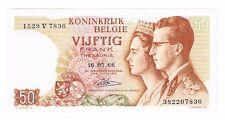 50 FRANCS BELGIUM 16.5.1966 UNC