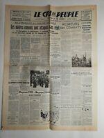 N253 La Une Du Journal Le cri du peuple 12 juin 1944 navires ennemis attaqués