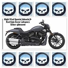 Night Rod Special, muscle, V-Rod CAM COVER NERO ARGENTO LUCIDO