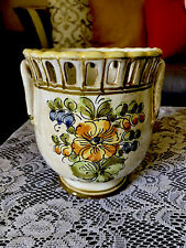 Vase Meiselman Imports Made In Italy Hand Painted Italian Pottery Planter #K14
