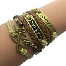 Multilayer Infinity Bracelet Dream Believe Love - Maid of Honor Friendship Gift