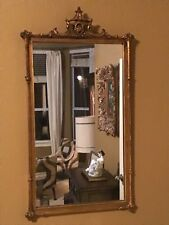 Vintage Decorative Arts French Carved Wall Mirror Gold Gilt