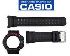 CASIO G-9010-1 GW-9010-1 G-SHOCK ORIGINAL WATCH BAND & BEZEL BLACK RUBBER STRAP
