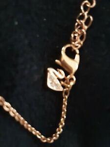 Necklace swarovski swan charm chain