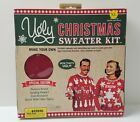 Ugly Christmas Sweater Kit Make Your Own Men's XL/Women's L Unisex Red DIY NEW