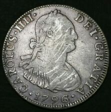 Mexico 1796 Fm 4 Reale Milled Bust King Charles Iv Us Legal Tender Silver Coin