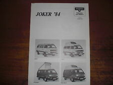 Prospekt Sales Brochure Westfalia VW Volkswagen Bus Transporter   автомобиль