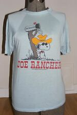 4d5e91421 Vintage 1970s Snoopy Joe Rancher Sz M Light Blue T-Shirt Cool Cowboy Peanuts  HTF