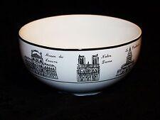 222 FIFTH Porcelain Cereal Soup Rice Bowl Around the City Paris Black & White