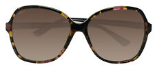 Gucci GG3721 HPA Havana Tortoise Orange Black Brown 58mm Lens Sunglasses New