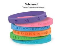 1000 Custom Rubber Silicone Wristband with logo Bracelets Engraved Wholesale