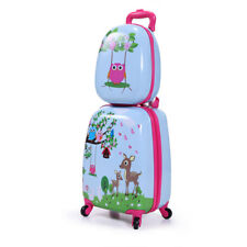 2Pc  Kids Carry On Luggage Set Upright Hard Side Hard Shell Suitcase12