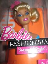 Mattel ~ Barbie Fashionistas Swappin' Styles Cutie Head 2010~3+ New MIB #T9123