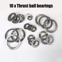 10PCS 51100-51206 Axial Bearing Steel Thrust Ball Bearings Sealed 3 Parts NewUS