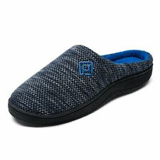 Men's Memory Foam Comfortable Slippers Plush Lining Winter House Anti-Skid Shoes