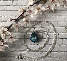 Baroque Cut Heliotrope Pendant Necklace Made With Swarovski Gem